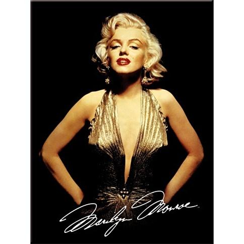 Nostalgic Art Marilyn Monroe Gold Magnet 6x8 cm Renkli